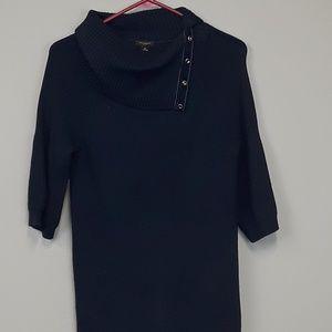 Ann Taylor navy turtleneck sweater size M
